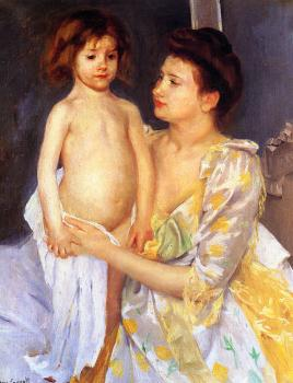 Mary Cassatt : Jules Being Dried by His Mother