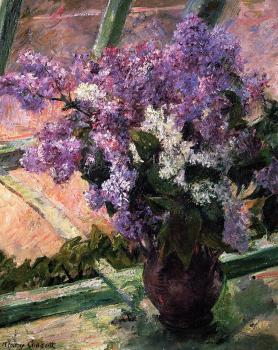 Mary Cassatt : Lilacs in a Window