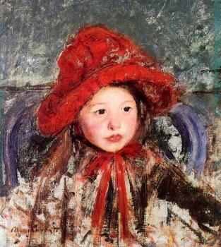 Mary Cassatt : Little Girl in a Large Red Hat