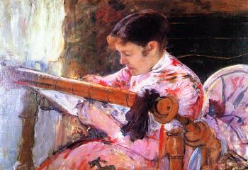 Mary Cassatt : Lydia at the Tapestry Loom