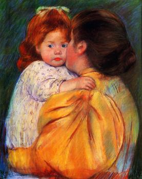 Mary Cassatt : Maternal Kiss
