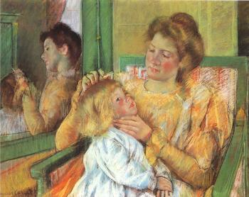 Mary Cassatt : Mother Combing Her Child's Hair