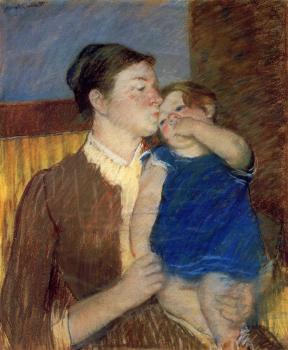 Mary Cassatt : Mother's Goodnight Kiss