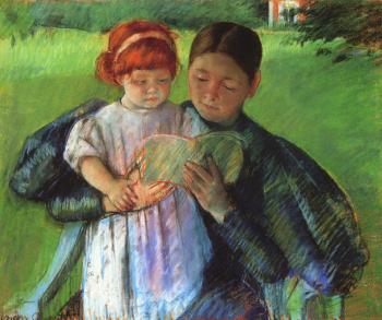 Mary Cassatt : Nurse Reading to a Little Girl