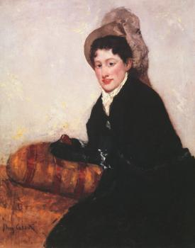 Mary Cassatt : Portrait of a Woman Dressed for Matinee