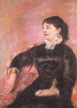Mary Cassatt : Portrait of an Italian Lady