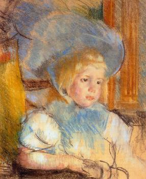 Mary Cassatt : Simone in Plumed Hat