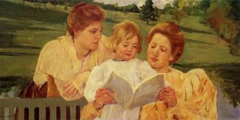 Mary Cassatt : The Garden Reading