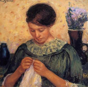Mary Cassatt : Woman Sewing