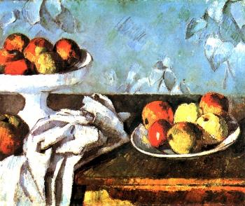 Cezanne, Paul - Still life with apples and fruit bowl