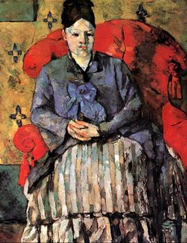 Paul Cezanne : Potrait of Mme Cezanne in Red Armchair