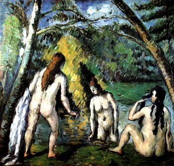 Paul Cezanne : Three Bathersc
