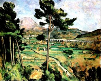 Paul Cezanne : Mont Sainte-Victoire and the Viaduct of the Arc River Valley
