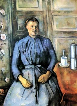 Paul Cezanne : Woman with a Coffeepot