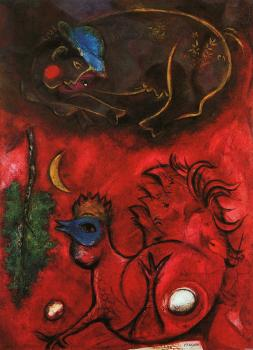 Marc Chagall : Listening to the Cock
