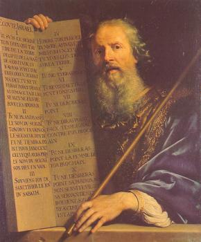 Philippe De Champaigne : Moses with the Ten Commandments