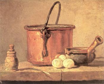 Copper Cauldron with Three Eggs