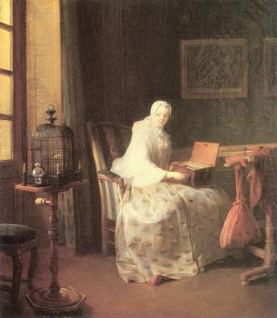 Jean Baptiste Simeon Chardin : The Bird-Song Organ