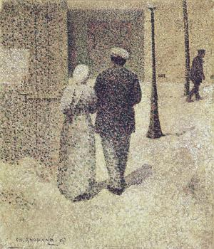 Charles Angrand : Couple in the street