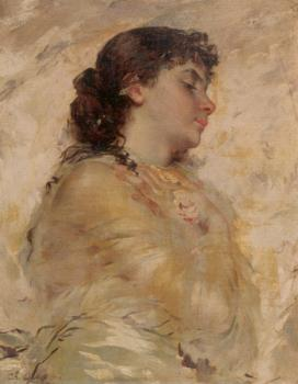 Charles Chaplin : Portrait of a Young Woman in Profile