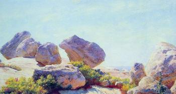 Charles Courtney Curran : Boulders on Bear Cliff