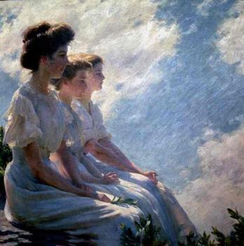 Charles Courtney Curran : On the Heights