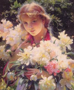 Charles Courtney Curran : Peonies
