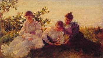 Charles Courtney Curran : Three Women