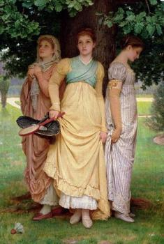 Charles Edward Perugini : A Summer Shower