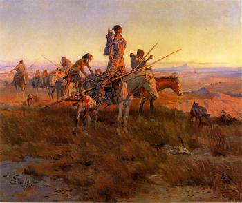 Charles Marion Russell : In the Wake of the Buffalo Hunters