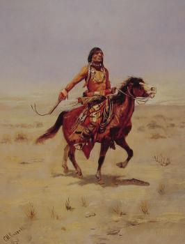 Charles Marion Russell : Indian Rider