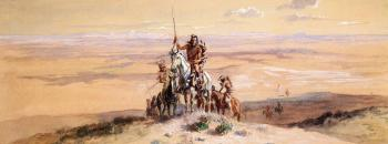 Charles Marion Russell : Indians on Plains