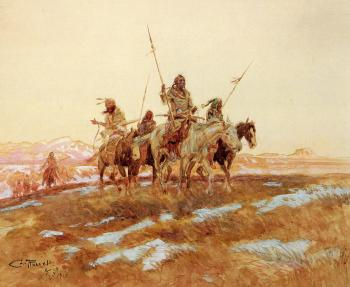 Charles Marion Russell : Piegan Hunting Party