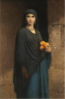 Charles Zacharie Landelle : Woman With Oranges