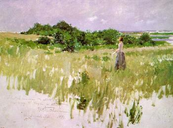 William Merritt Chase : Shinnecock Hills (A View of Shinnecock)