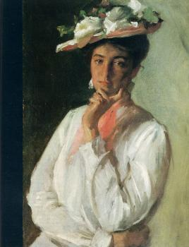 William Merritt Chase : Woman in White
