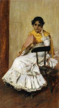 William Merritt Chase : A Spanish Girl aka Portrait of Mrs Chase in Spanish Dress