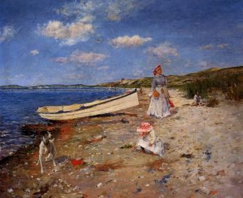 William Merritt Chase : A Sunny Day at Shinnecock Bay