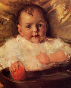 William Merritt Chase : Bobbie A Portrait Sketch