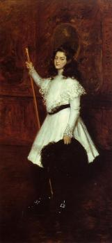 William Merritt Chase : Girl in White aka Portrait of Irene Dimock