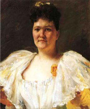 William Merritt Chase : Portrait of a Woman