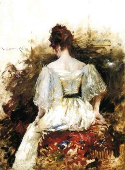 Portrait of a Woman The White Dress