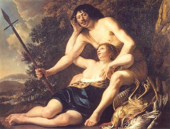 Christiaen Van Couwenbergh : Venus and Adonis