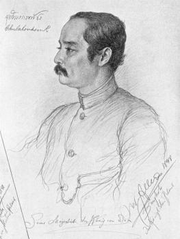 Christian Wilhelm Allers : Portrait of Phra Maha Chulalongkorn, king of Siam