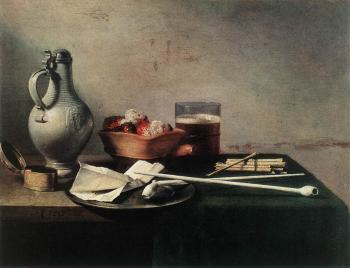 Pieter Claesz : Tobacco Pipes and a Brazier