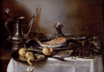 Pieter Claesz : A Still Life With A Jan-Steen Jug