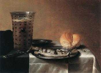 Pieter Claesz : Still Life with Herring