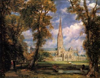 John Constable : Salisbury Cathedral from the Bishops' Grounds