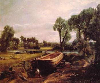 John Constable : Boat Building