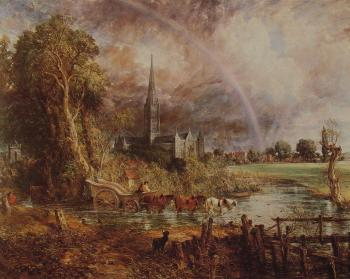 John Constable : Salisbury Cathedral from the Meadows